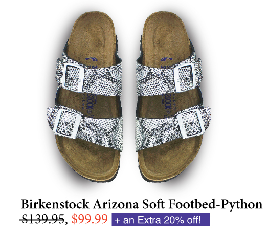 Women's Birkenstock Arizona Soft Footbed in Python Silver