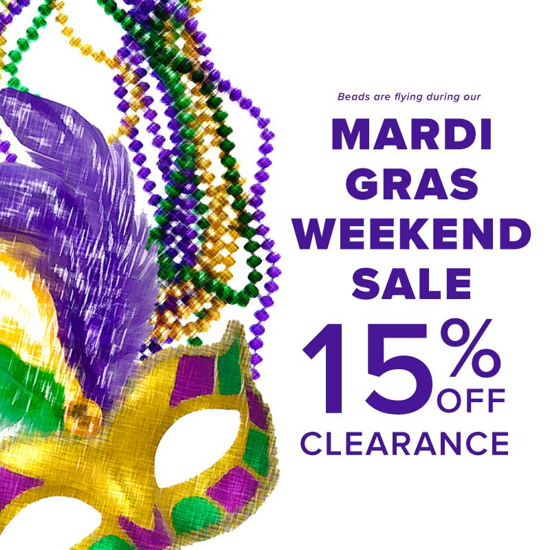 Mardi Gras Sale Footwear etc.